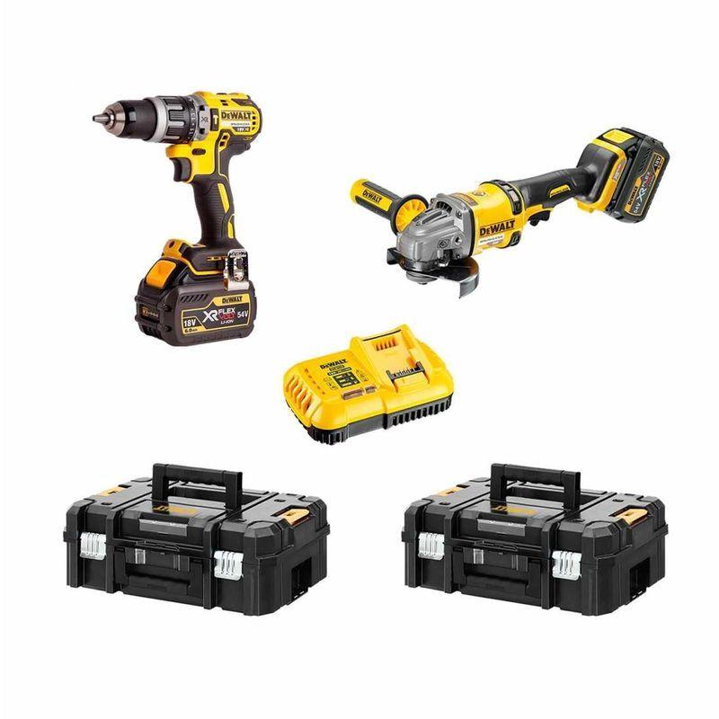 DeWALT Kit FVK256T2-QW 54V/18V (DCD796 DCG414 2 x 6,0 Ah DCB118 2 x