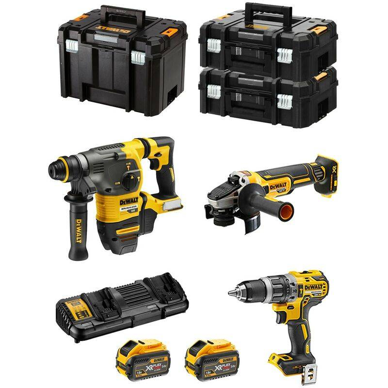 DeWALT Kit FVK375X2 54V/18V (DCH333 DCG405 DCD796 2 x 9,0 Ah DCB132