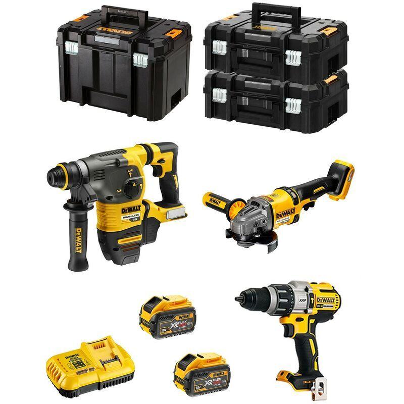 DeWALT Kit FVK381X2HD-QW 54V/18V (DCH333 DCD996 DCG414 2 x 9,0 Ah