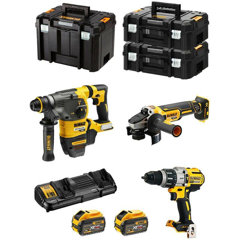 DeWALT Kit FVK395X2 54V/18V (DCH333 DCG405 DCD996 2 x 9,0 Ah DCB132