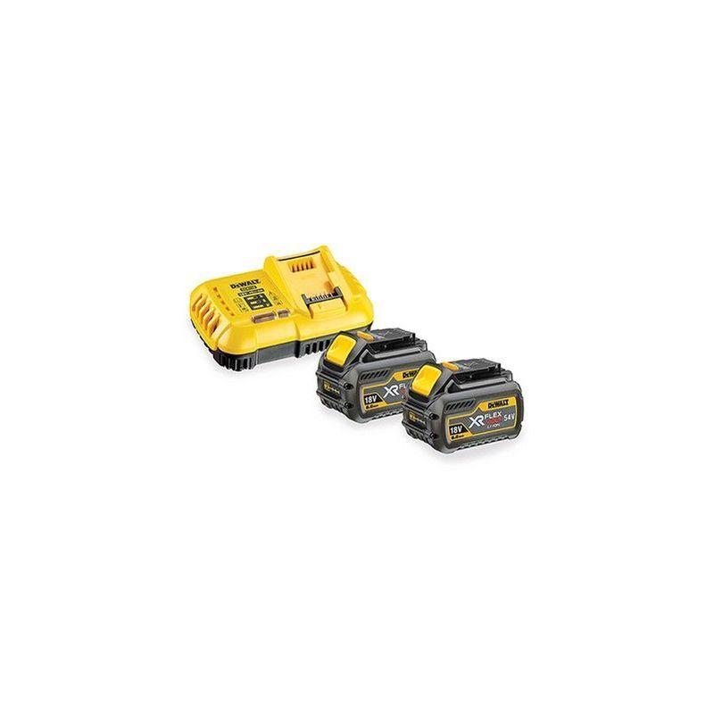 DEWALT Pack 2 batteries XR FLEXVOLT 18V/54V 9AH/3AH LI-ION + chargeur rapide