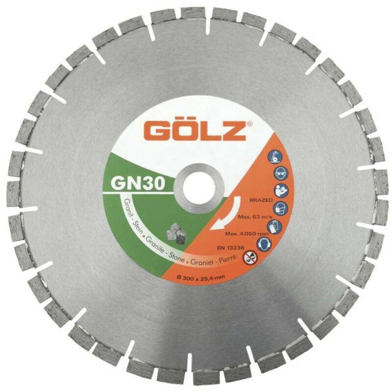 GOLZ Disque Diamant, Coupe A Eau Pour Scie A Eau Sur Table - Gn30 - Granit