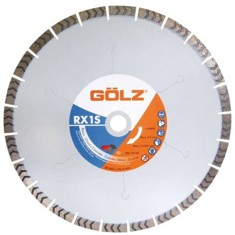 Golz - DISQUE DIAMANT, COUPE A EAU POUR SCIE SUR TABLE - RX1S - BETON