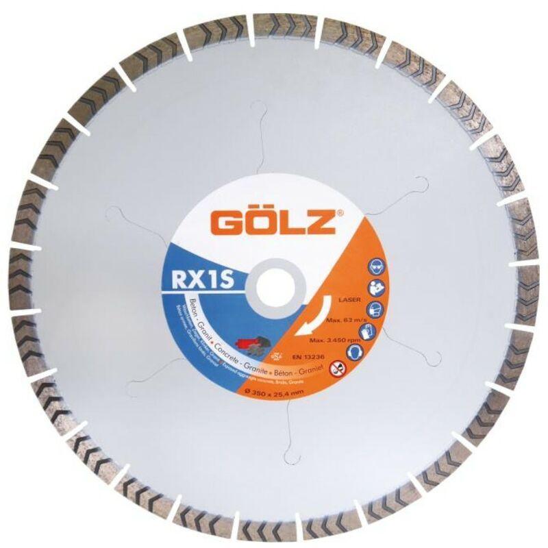GOLZ Disque Diamant, Coupe A Eau Pour Scie Sur Table - Rx1S - Beton Et