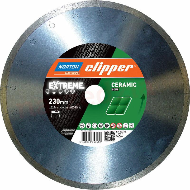 NORTON CLIPPER Disque diamant Extreme Ceramic Soft Ø 230 x 25,4 - Norton Clipper