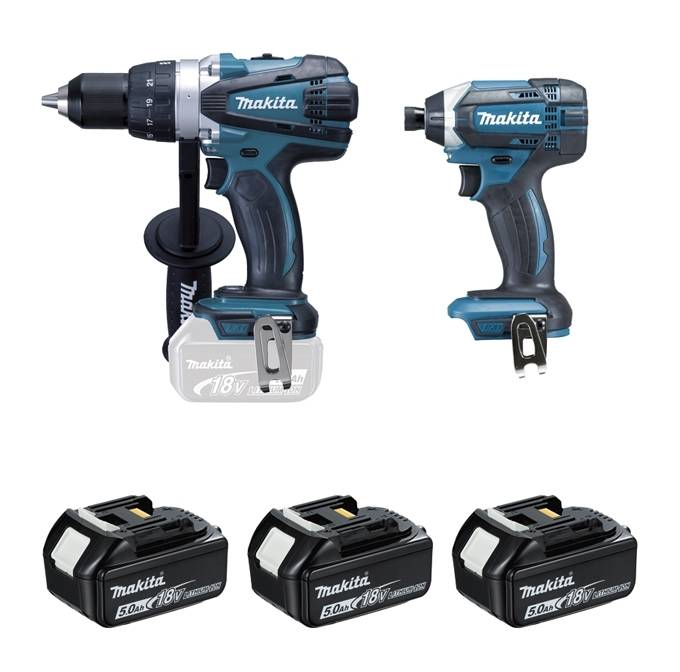 MAKITA Ensemble de 2 machines MAKITA 18V Perceuse DDF458 + Visseuse à chocs