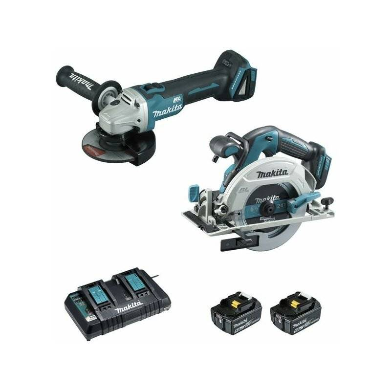 MAKITA Ensemble De 2 Machines Makita 18 V Li-Ion 5 Ah (Dhs680 +