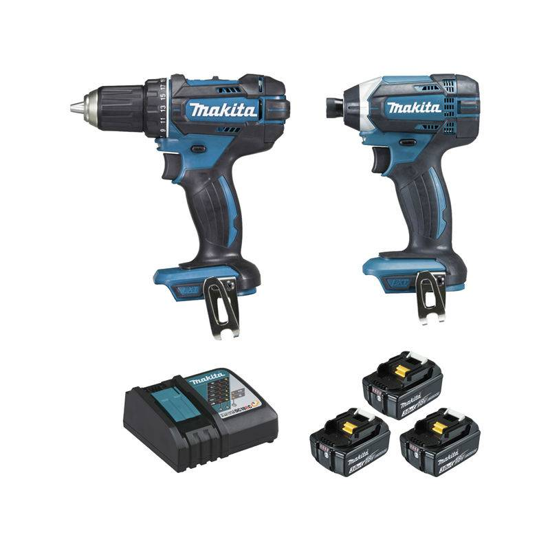 MAKITA Ensemble de 2 machines MAKITA 18V Perceuse visseuse DDF482 + Visseuse à
