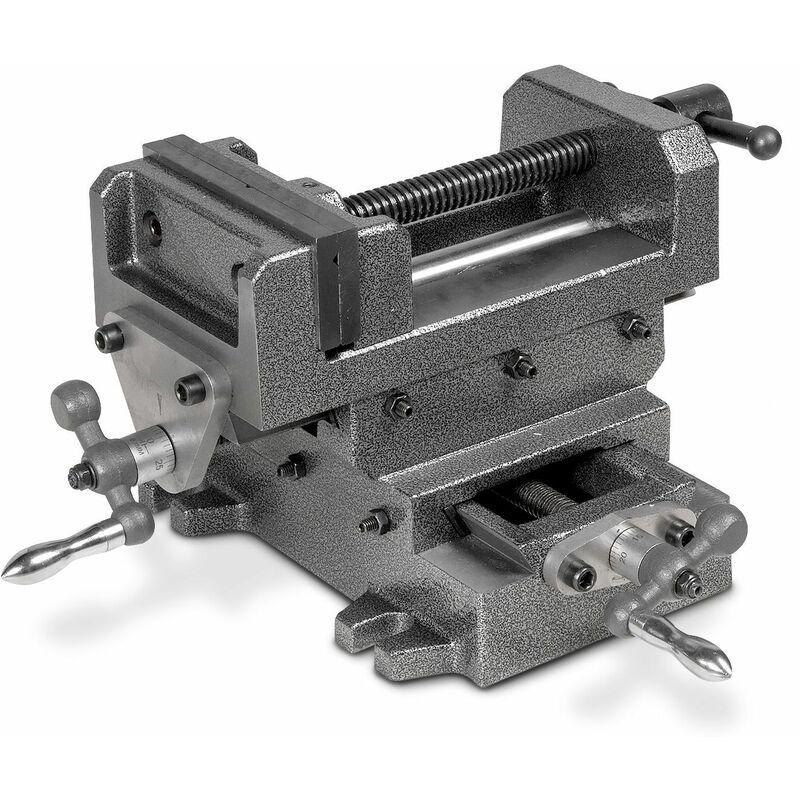 MW-TECH Étau de perceuse sur table croisée 125mm BAVALR125 - Mw-tech