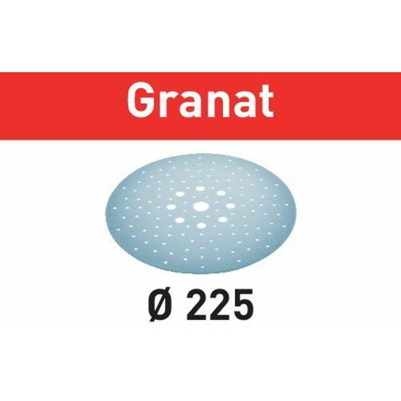 FESTOOL Abrasifs Granat FESTOOL pour ponceuse Planex - Grain 150 D.225 - Boîte
