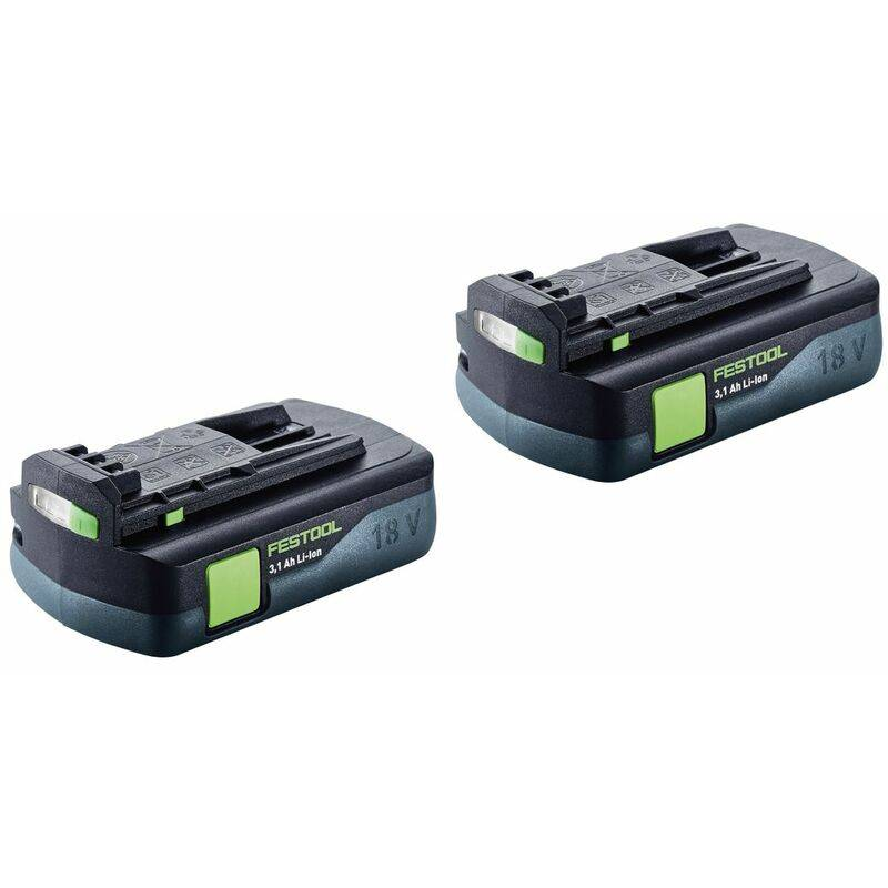 Festool Power ensemble 3,1 C de - 2x Batteries BP 18 Li 3,1 C Pack 18V