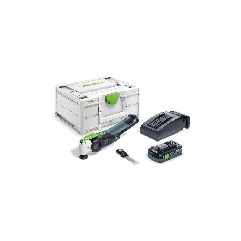 Festool Outil oscillant OSC 18 HPC 4,0 EI-Plus VECTURO + batterie +