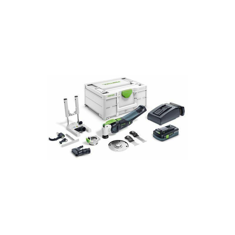 Festool Outil oscillant OSC 18 HPC 4,0 EI-Set VECTURO + batterie +