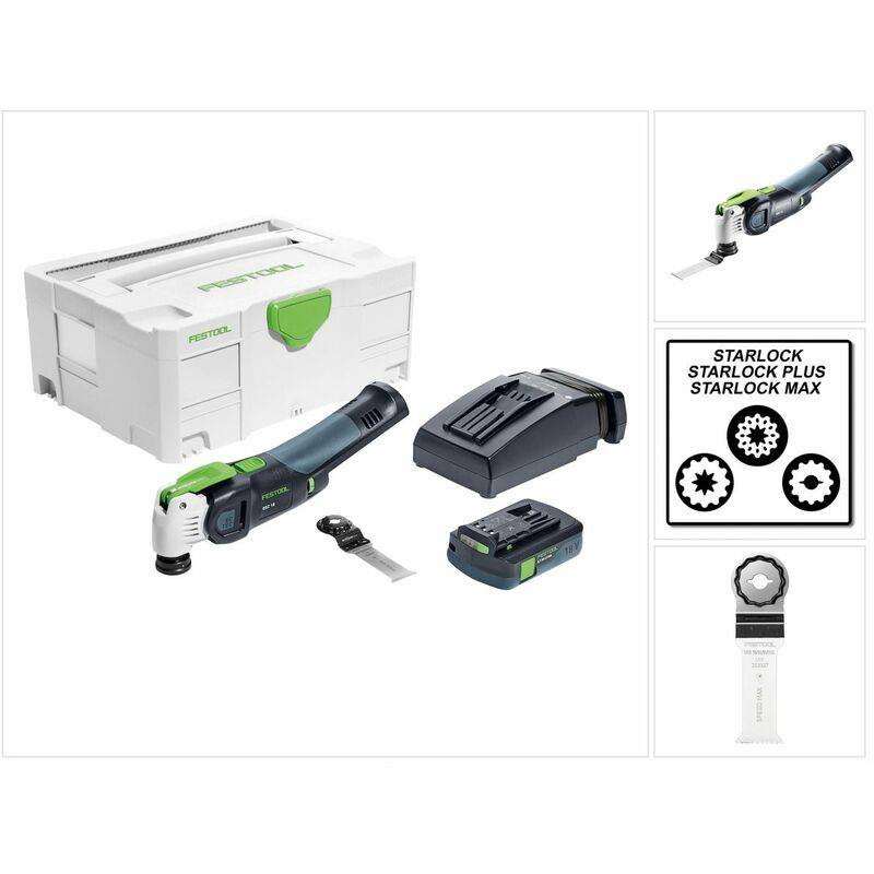 Festool OSC 18 Li 3,1 E-Compact VECTURO Outil multifonction oscillant