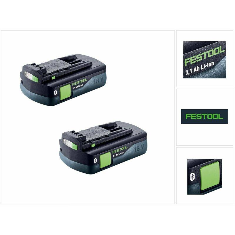Festool Power ensemble 3,1 CI de - 2x Batteries BP 18 Li 3,1 CI Pack