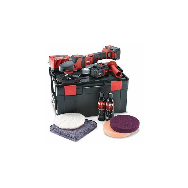 Flex Polisseuse à rotation sans fil PE 150 18.0-EC/5.0 P-Set 18,0 V