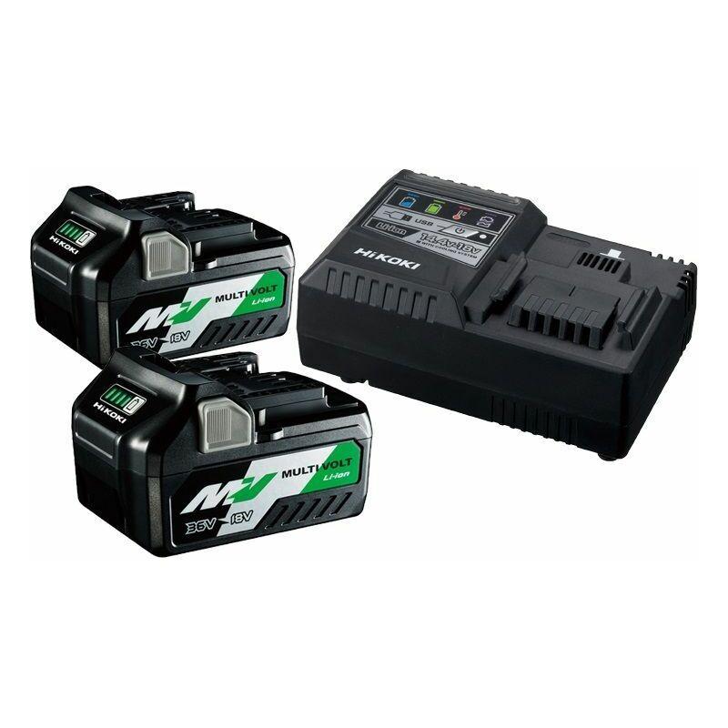 HiKOKI Booster Pack 36V BSL36A18x2 + chargeur UC18YSL3 - UC18YSL3WEZ