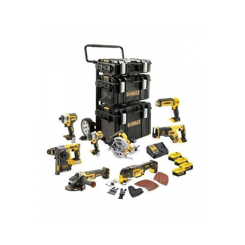 DEWALT Ensemble Premium de 8 outils électroportatifs - XR 18V 5AH li-ion DeWalt