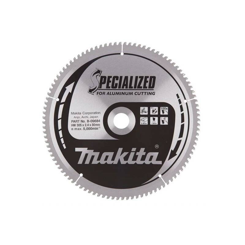 Makita - Lame carbure Specialized Ø 305 x 30 mm 100 dents pour