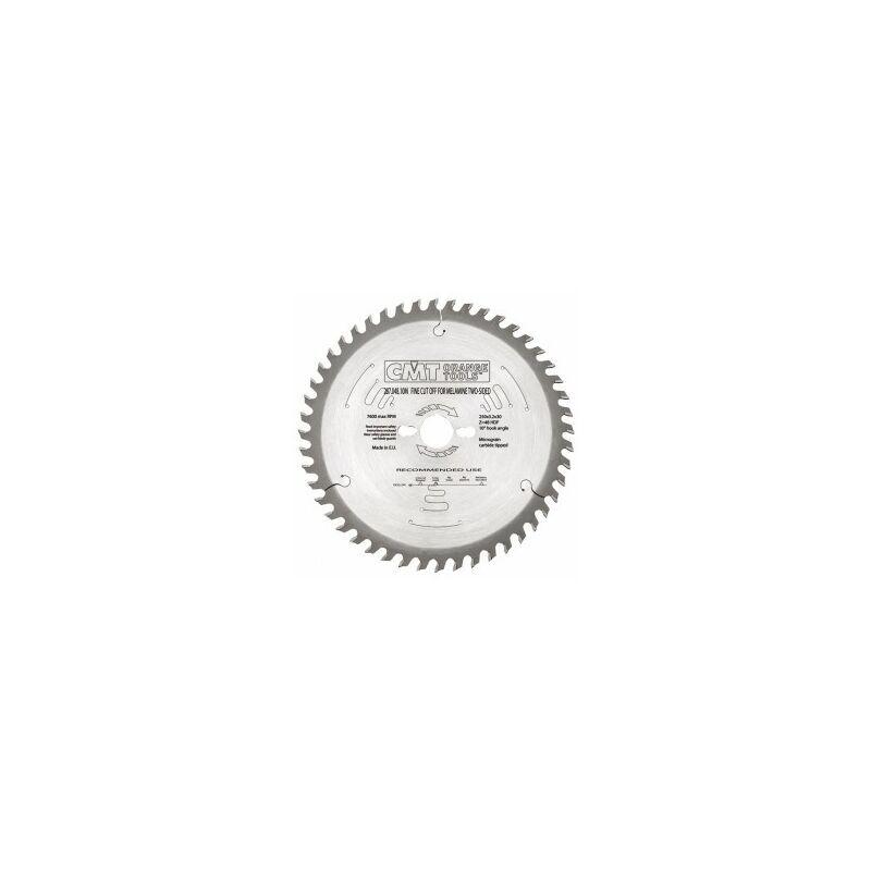CMT : Lame circulaire carbure industrielle 250 z= 48 denture gouge