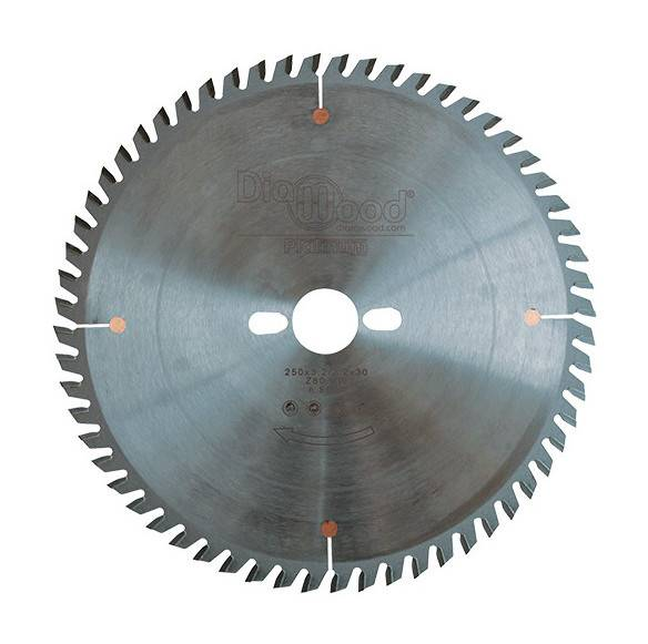 DIAMWOOD PLATINUM Lame de scie circulaire HM micrograin finition D. 250 x Al. 30 x ép.