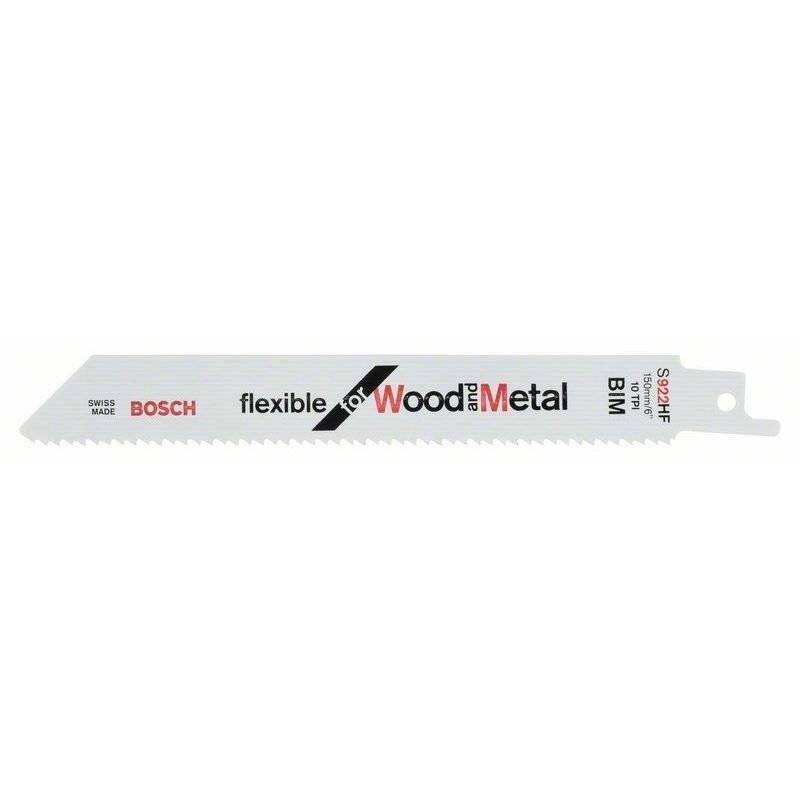 Bosch Lame de scie sabre S 922 HF Flexible for Wood and Metal