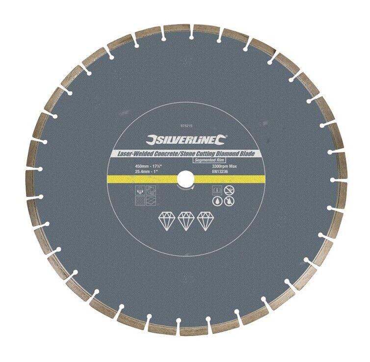 Silverline - Disque diamanté à tronçonner le béton et la pierre soudé