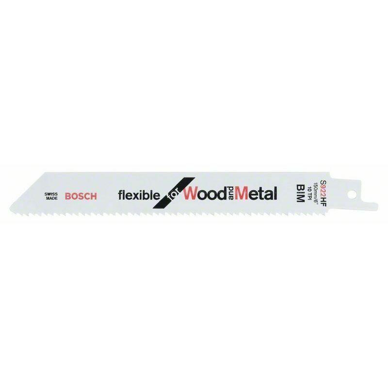 Bosch Lame de scie sabre 922 HF Flexible for Wood and Metal