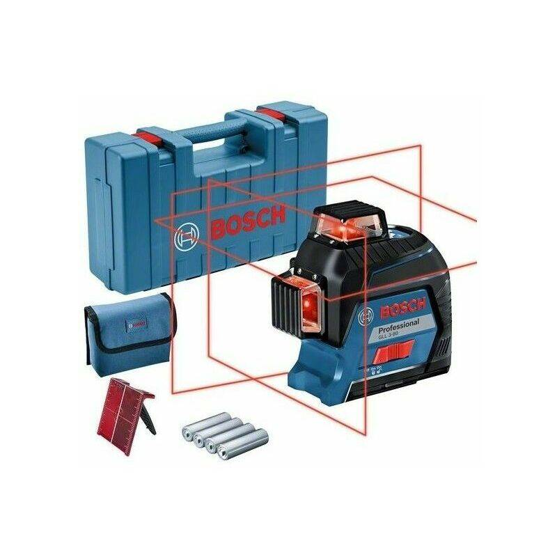 BOSCH Laser lignes GLL 3-80 Bosch Professional (version piles) - 0601063S00
