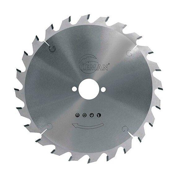 LEMAN Lame carbure pour portative D. 250 x Al. 30 mm. x 24 dents neg. alt.