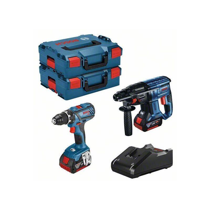 BOSCH Lot BOSCH Perceuse GSR 18V-28 + Perforateur GBH 18V-21 + 2 batteries