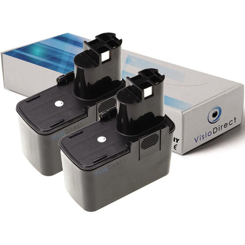 VISIODIRECT Lot de 2 batteries pour Bosch GBM 7.2 VE-1 perceuse sans fil 3000mAh