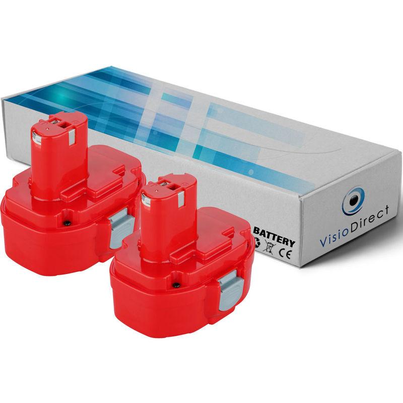 VISIODIRECT Lot de 2 batteries pour MAKITA 4333DZ Scie sauteuse 14.4V 3000mAh