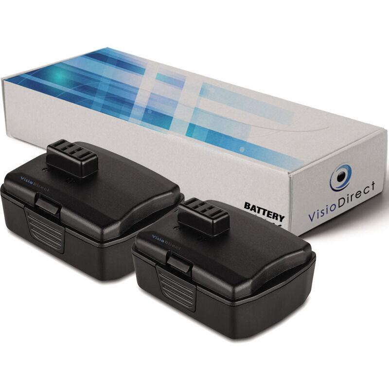 VISIODIRECT Lot de 2 batteries pour Ryobi CS-1201 scie circulaire 2000mAh 12V