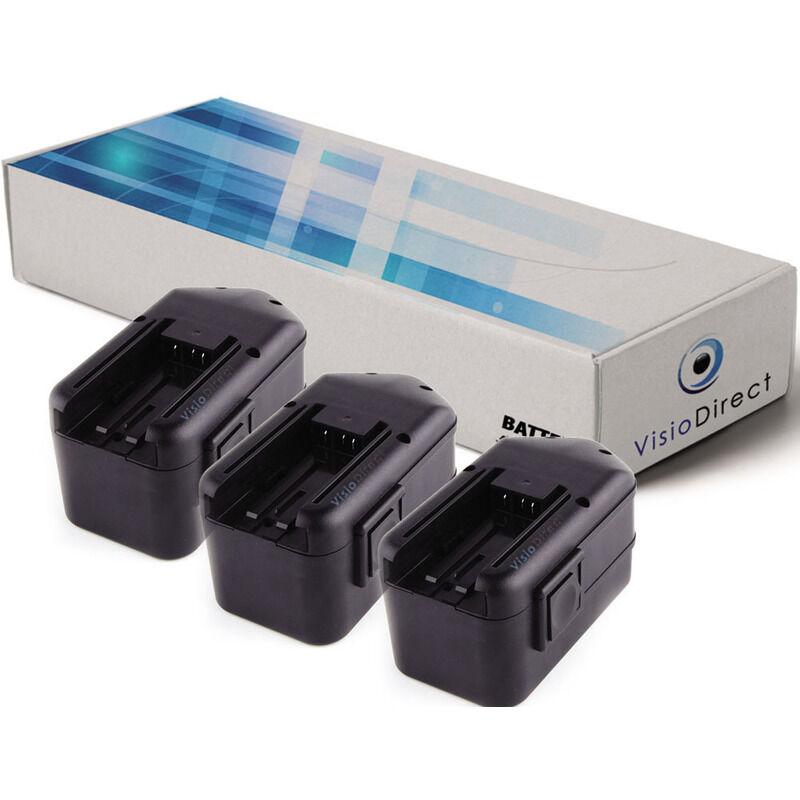 VISIODIRECT Lot de 3 batteries pour AEG SB2E 18 STX perceuse sans fil 3300mAh 18V