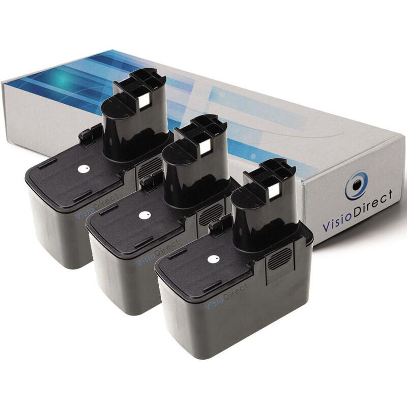 Visiodirect - Lot de 3 batteries pour Bosch GBM perceuse sans fil 7.2