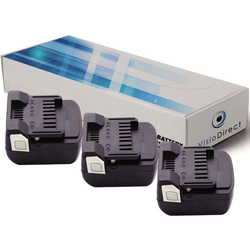 Visiodirect - Lot de 3 batteries pour Hitachi CJ 14DSL perceuse
