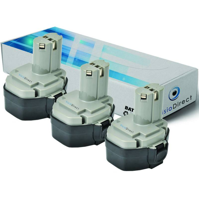 Visiodirect - Lot de 3 batteries pour MAKITA 8433DWD scie sauteuse