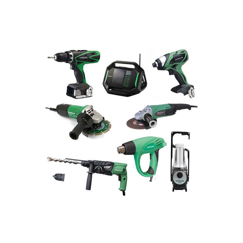 HITACHI - HIKOKI Lot Perceuse + 7 outils -2 batteries 18V 3Ah Hitachi/Hikoki - HITACHI