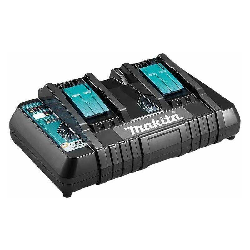 MAKITA Chargeur rapide pour 2 batteries Li-Ion 14,4 à 18 V - MAKITA DC18RD