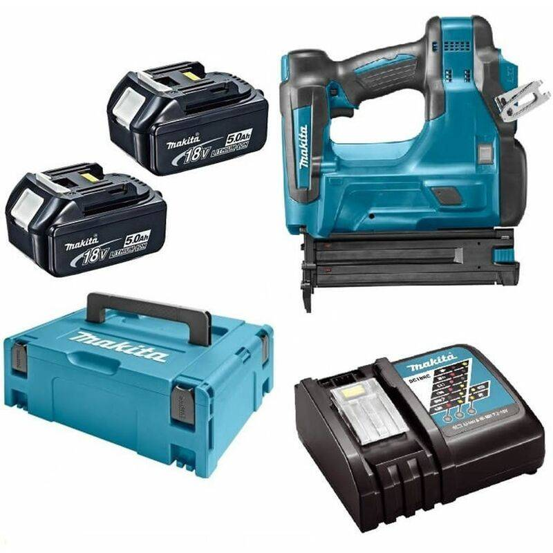 Makita DBN500RTJ Cloueur à batteries 18V Li-Ion set (2x batterie 5,0Ah)