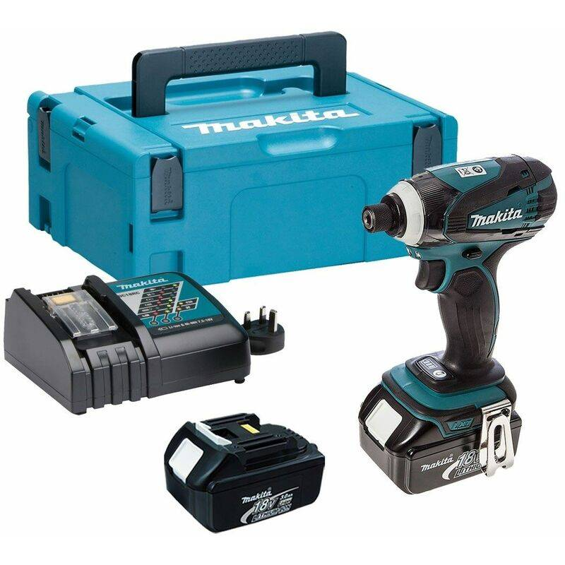 Makita DTD146RFJ Visseuse à chocs à batteries 18V Li-Ion set (2x