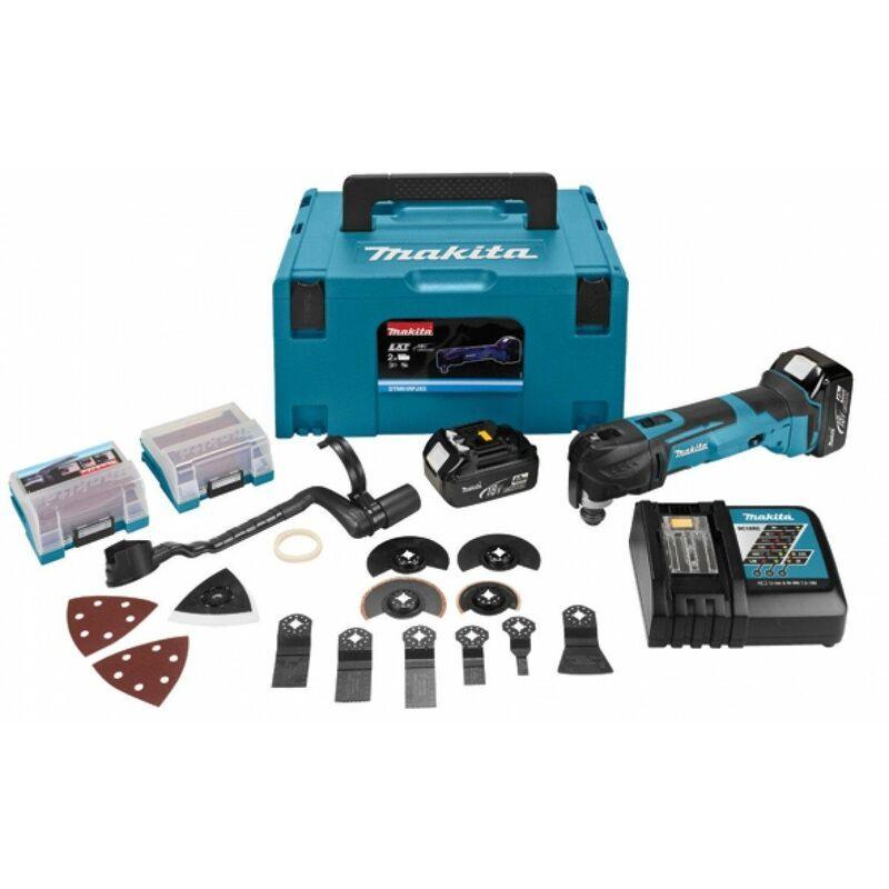 Makita DTM51RTJX3 Outil multi-fonction à batteries 18V Li-Ion (2x