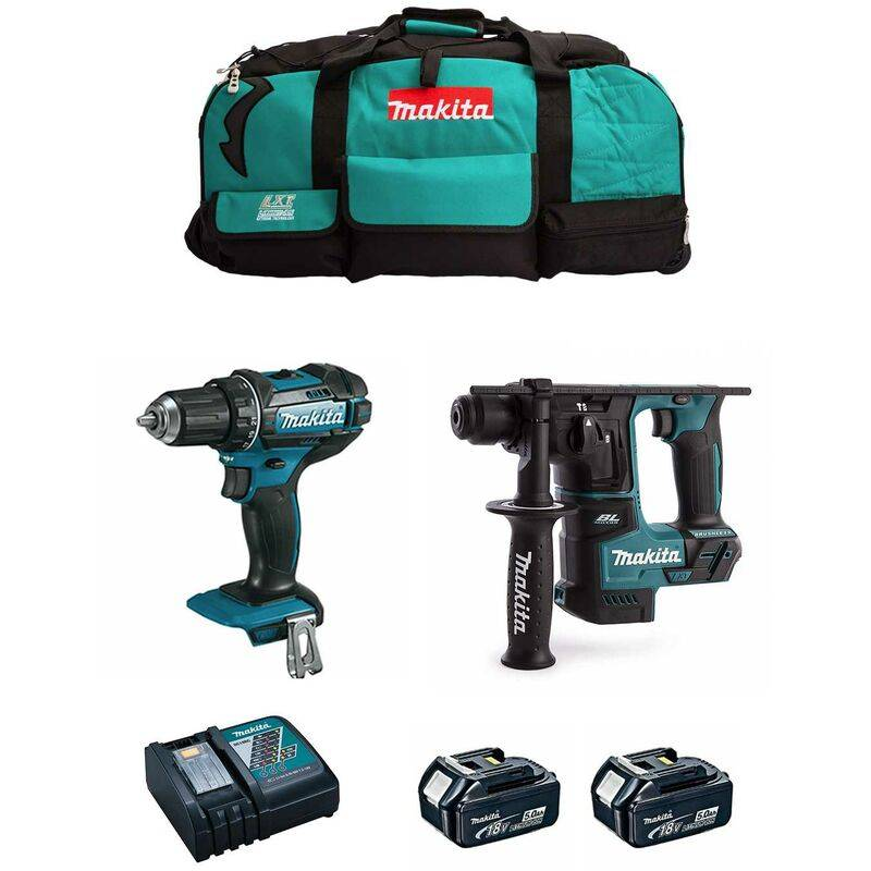 MAKITA Kit 18V MSB2P2 (DHR171 DDF482 2 x 5,0 Ah DC18RC Trolley)
