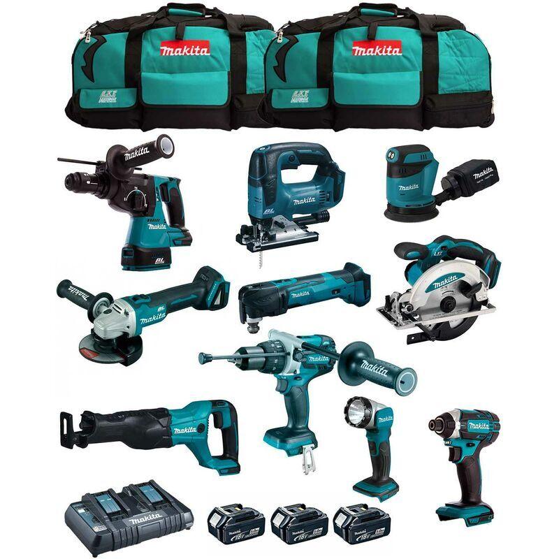 MAKITA Kit MK1002 (DHP481+ DHR243+ DGA504+ DTD152+ DJV182+ DSS610+