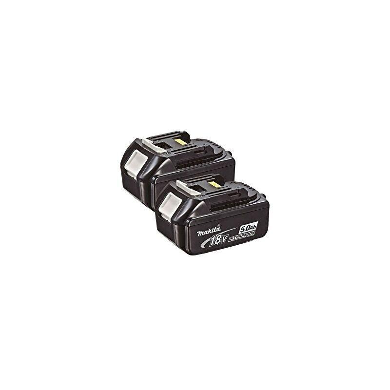 Makita 2Bl1850 18 V 5.0 D'Une Batterie Li-Ion Lxt ? Noir (Lot De 2)