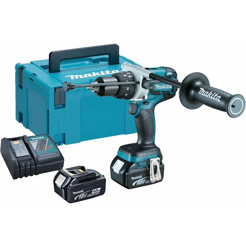 Makita DHP481RMJ Visseuse perceuse à percussion à batteries 18V Li-Ion