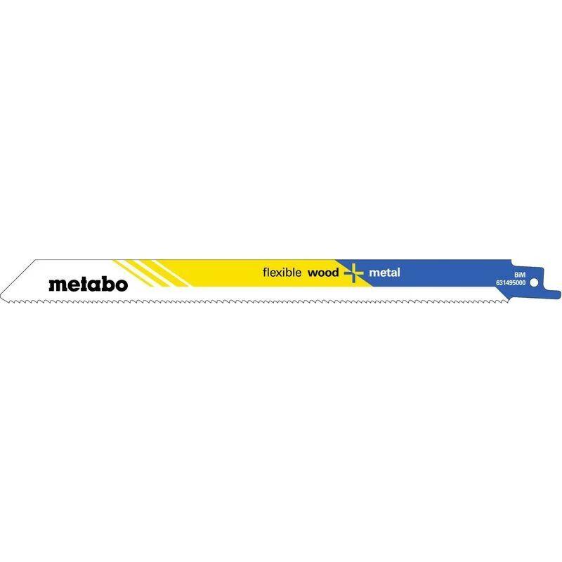 Metabo 100 lames de scies sabres, H+M, flexible, 225 x 0,9 mm - 62549400