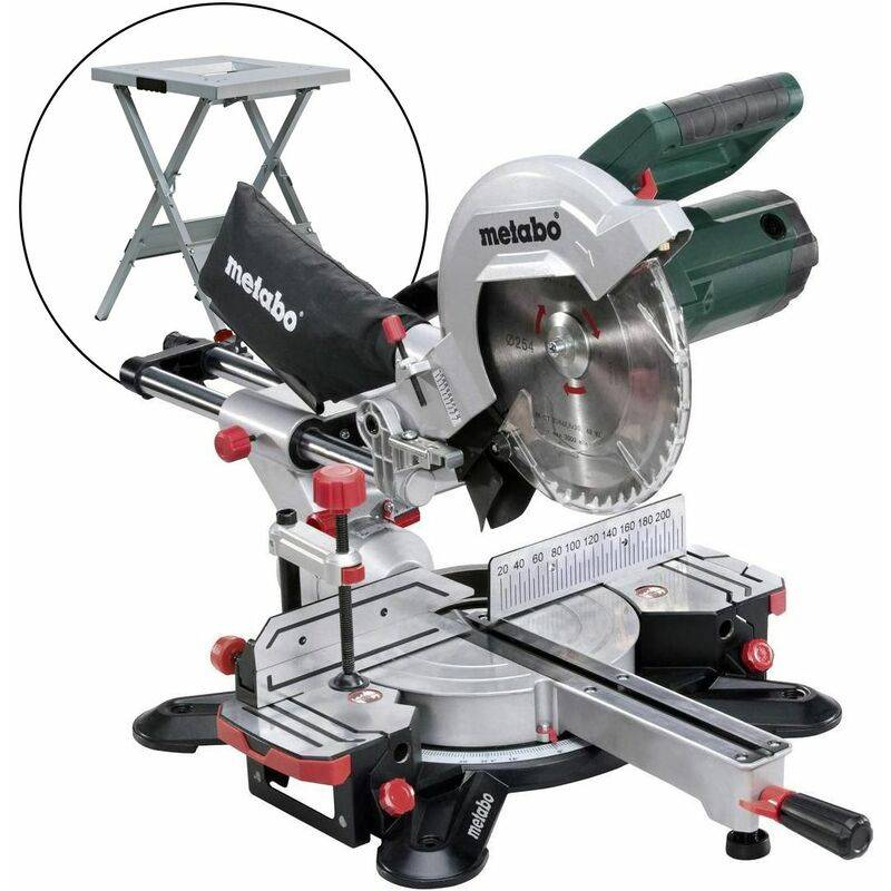 Metabo KGS 254 M - Scie à onglet radiale sur table (UMS) - 1800W - 254