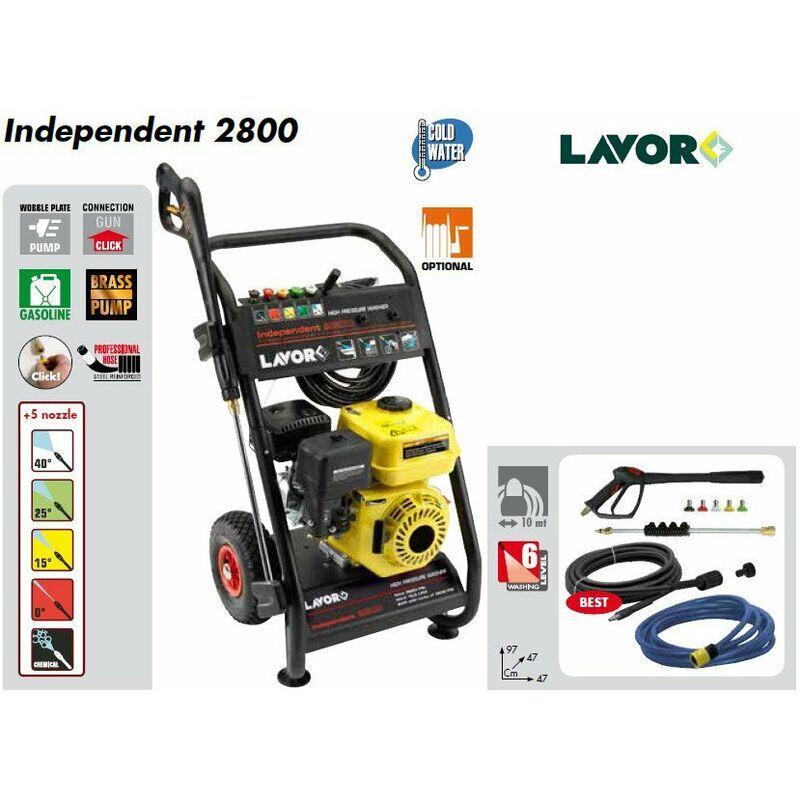 Lavor – Nettoyeur haute pression thermique 200 Bars 690L/h (pompe en laiton) – INDEPENDENT 2800